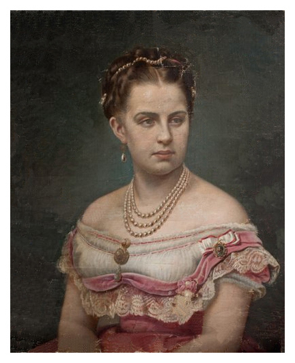 1868 Queen Olga of Greece painted by Elisabeth Jerichau Baumann (location unknown to gogm) APFxVeronica 18May11 redo