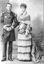 Rudolf Crown Prince with Belgian wife Stephanie