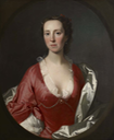 Ruth Trevor (1712–1764) in a red dress and white satin robes, by Allan Ramsay (for sale or sold by Bourne Fine Art) From Bourne catalog via pinterest.com-lucindabrant-18th-century-artladies-