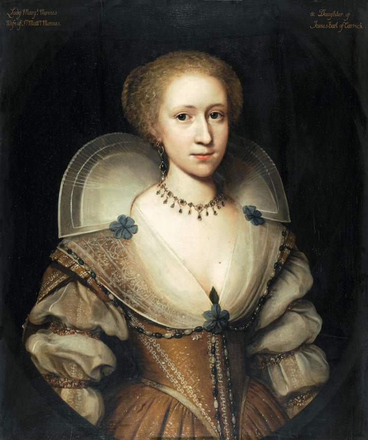 Said to be Lady Margaret Mennes attributed to Cornelis Jonson van Ceulen (auctioned by Bonhams) From Bonhams Web site fixed l. upper r. edges and despotted bckgnd