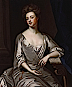 Sarah Churchill, Duchess of Marlborough wearing the symbol of her office and authority - the gold key, by Sir Godfrey Kneller (National Portrait gallery - London UK)