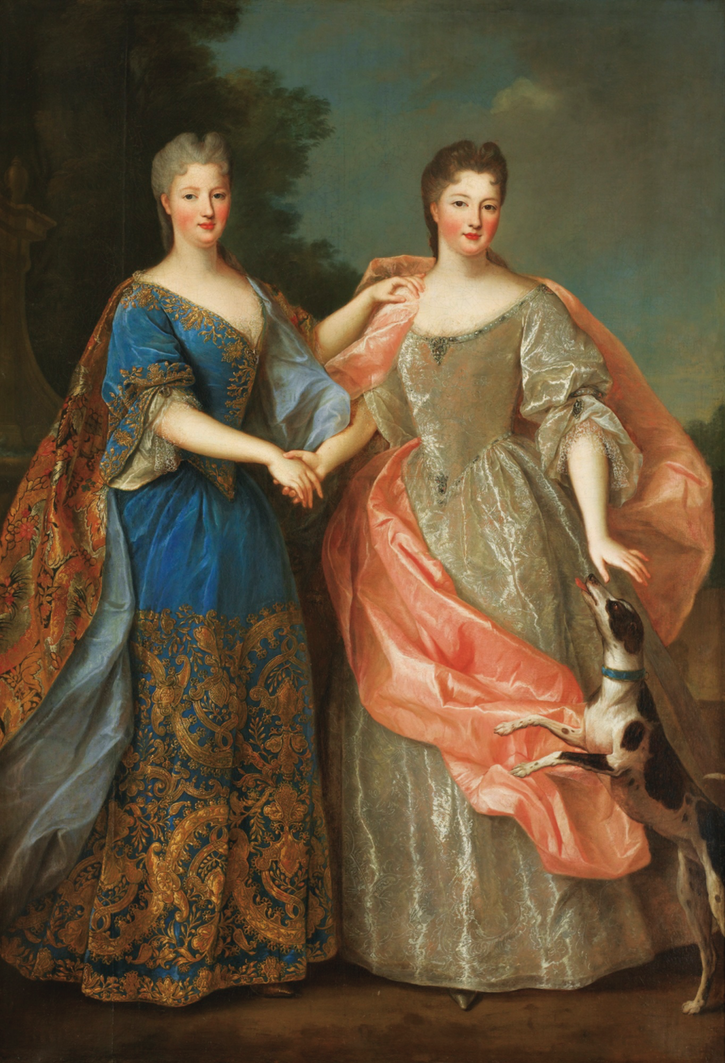 Seconde Mademoiselle de Blois  et de Mademoiselle de Nantes by workshop of Pierre Gobert (auctioned by Sotheby's) From Sotheby's Web site