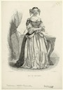 Marquise de Sevigne black and white print (New York Public Library collection)