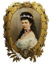 Sisi in oval frame by ? (location unknown to gogm)