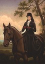 Sisi wearing a riding dress riding horse by ? (location unknown to gogm)