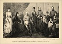 1888 Print of Empress Elisabeth's family