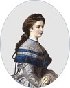 1867 Sisi wearing a gray day dress by ? (location unknown to gogm)