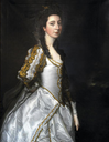 1761 Susannah Trevelyan by Thomas Gainsborough and over-painted by Sir Joshua Reynolds (Wallington Hall - Northumberland) Photo - Nicky Grimaldi