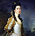 Susannah Trevelyan by Thomas Gainsborough and over-painted by Sir Joshua Reynolds (Wallington Hall - Northumberland)