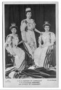 1902 The Connaughts, Margaret Luise standing, Margaret left and Patricia right by W. & D. Downey