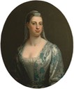 The Honourable Mrs Plummer by the school of Thomas Hudson (Towner Gallery - Eastbourne, East Sussex, UK) deflaw cracked paint