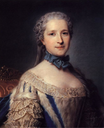 Wife of the Marshal de Belle Isle by Maurice Quentin de la Tour (location unknown to gogm)