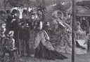 1873 (July) The Shah of Persia at the Chiswick garden party given by the Prince and Princess of Wales in July 1873 by or after Louis William Desanges