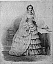 1853 The Empress Eugénie, famous for her elaborate toilettes, wedding dress