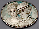 1789 The Waldegrave Sisters - Lady Anna Horatia and Lady Charlotte Maria by Richard Cosway (auctioned by Christie's)