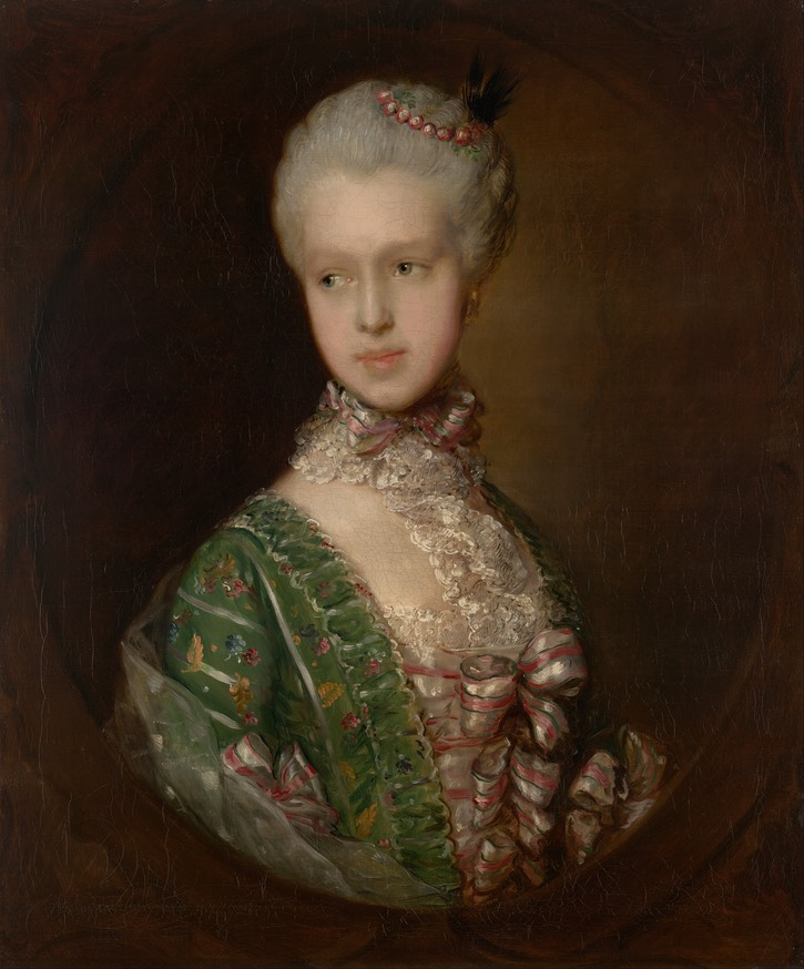 Unaltered 1764-1765 Elizabeth Wrottesley, later Duchess of Grafton by Thomas Gainsborough (National Gallery of Victoria - Melbourne, Victoria, Australia) Google Art Project via Wikimedia