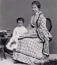 1870 to 1871 (estimated by age of child) Archduchesses Marie Valerie and Gisela