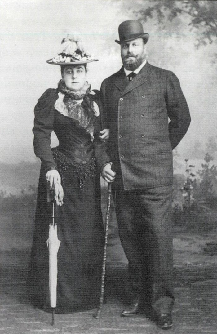 Velikiy Knyaz Alexei Alexandrovich (brother of Emperor. Alexander III) with the Countess Zinaida Dmitrievna Beauharnais From liveinternet.ru:users:3251944:post335405524: