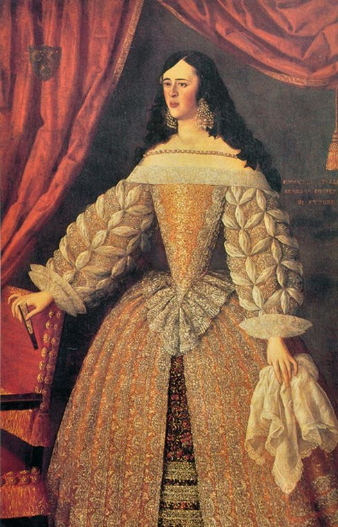 Virreina de Napoles by ? (location ?) From pinterest.com/green_eyeds85/spanish-ladies-of-baroque/.jpg