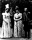 Vladimir and his wife, Maria Pavlovna, and Alexandra Feodorovna and Nicholas II