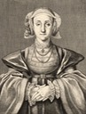 Anne of Cleves by Wenceslas Hollar after Hans Holbein the Younger