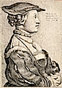 Anne of Cleves wearing a hat by Wenceslas Hollar