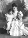 Xenia Alexandrovna Romanova of Russia with her daughter Princess Irina Alexandrovna Romanova of Russia by ? From pinterest.com/gaboo71609/history/ X 1.2