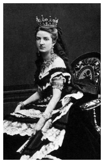 Young Margherita wearing court dress